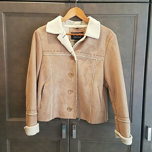 Utex Jackets & Blazers - Faux Suede and faux shearling jacket
